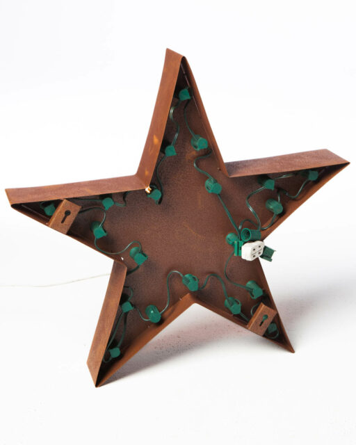 Alternate view 2 of Small Lighted Metal Patina Star
