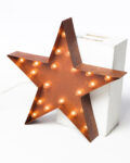 Front view thumbnail of Small Lighted Metal Patina Star