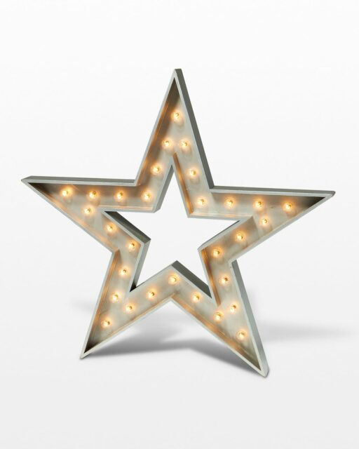 Front view of Small Five Point Star