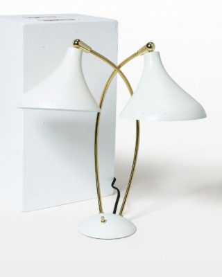 Front view of Andrus Double Task Lamp