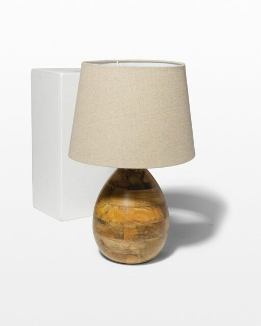 Front view of Beech Table Lamp