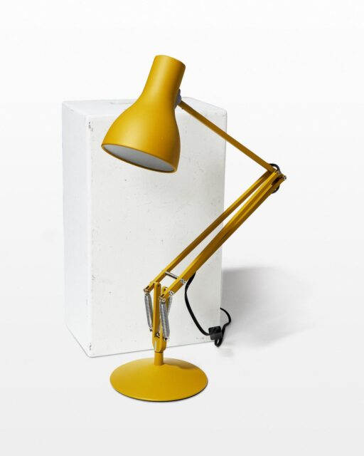 Front view of Lancaster Yellow Task Lamp