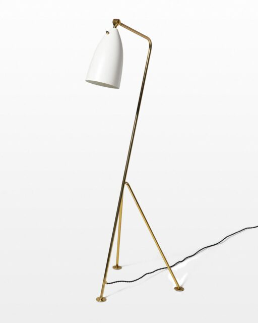 Front view of Rodman Grasshopper Lamp