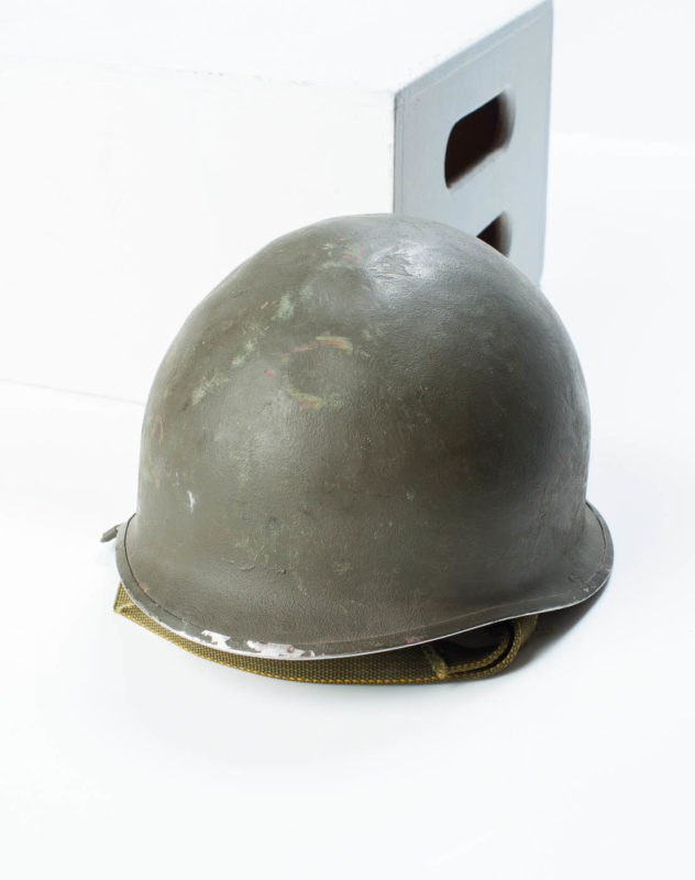 Front view of Army Infantry Helmet