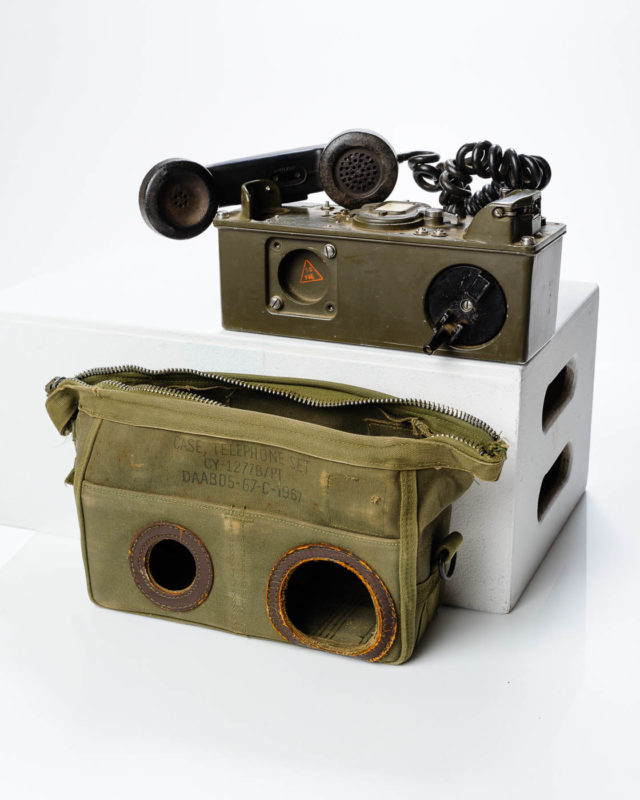 Front view of Military Field Phone