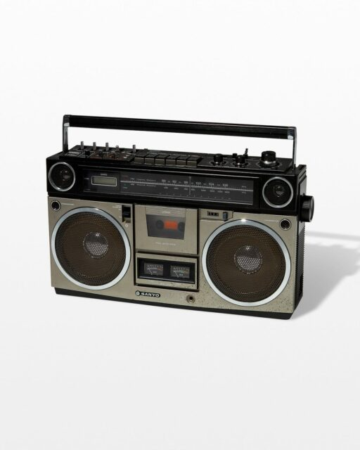 Front view of Vintage Boombox