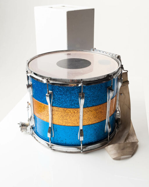 Front view of Blue and Yellow Drum