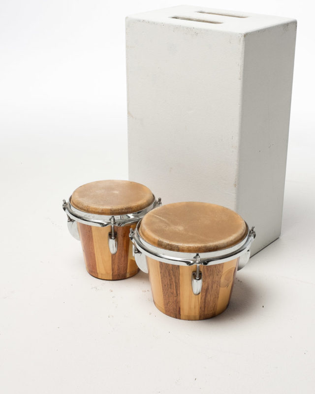 Front view of Bongos