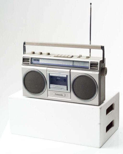 Front view of Chuck Boom Box