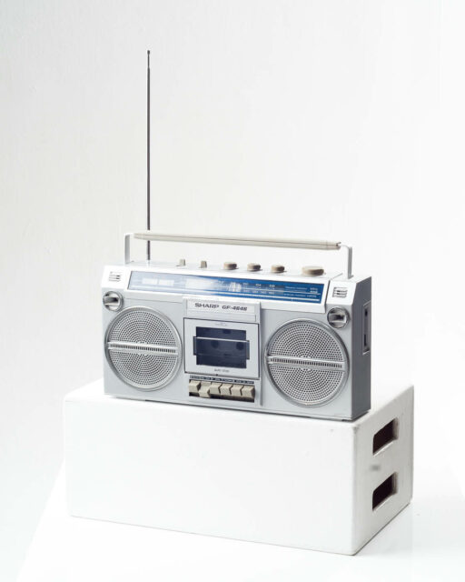 Front view of Kurtis Boom Box