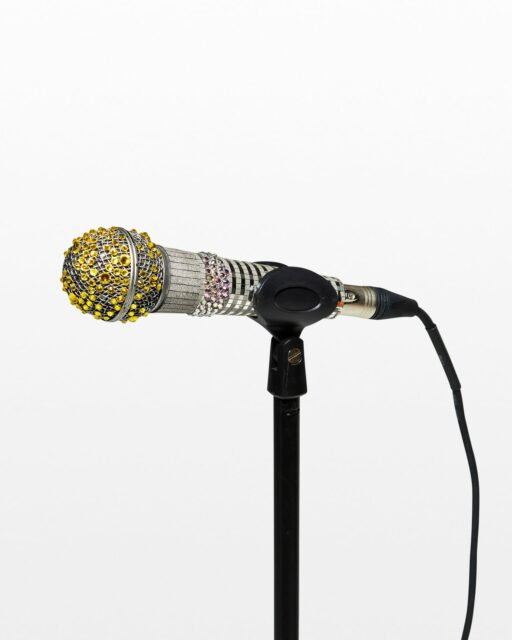 Front view of Perry Rhinestone Microphone