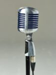 Alternate view thumbnail 2 of Bolt Silver and Blue Microphone with Cable and Stand