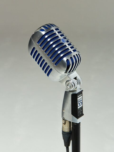 Alternate view 3 of Bolt Silver and Blue Microphone with Cable and Stand