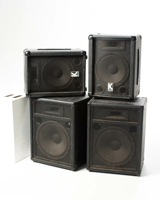 Front view of Osbourne Amp Speakers Set