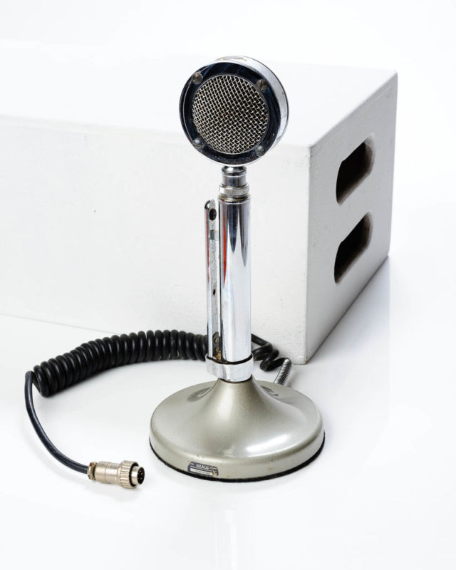 Front view of Classic Broadcasters Microphone