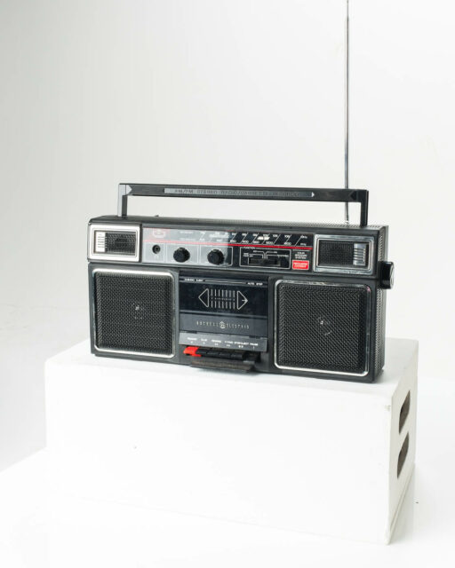 Front view of Phife Boombox