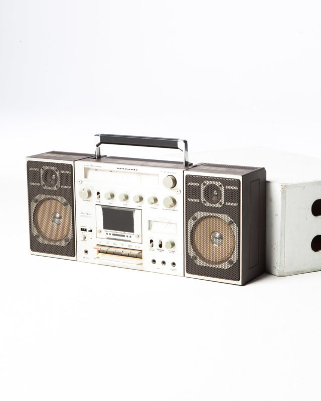 Front view of Rick Boom Box