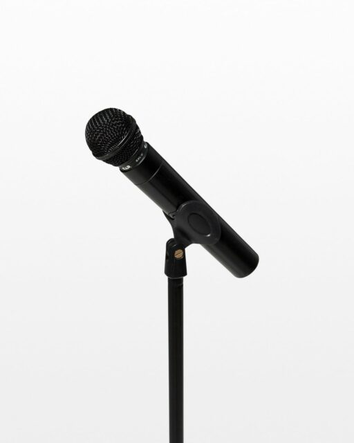 Front view of Elgin Wireless Microphone with Stand