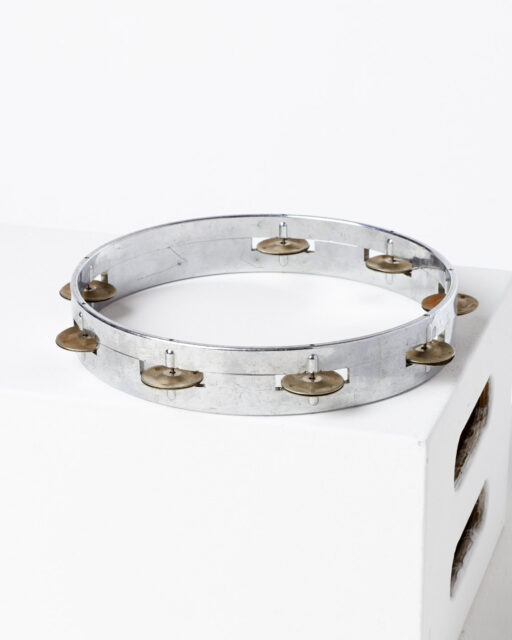 Front view of Lindsey Silver Tambourine