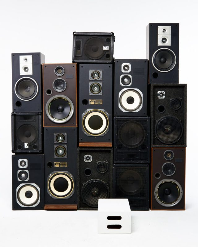 Front view of Rhymes Speaker Wall Set