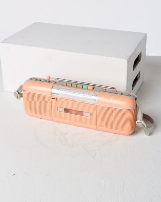 Front view of Pink Lady Casette Radio