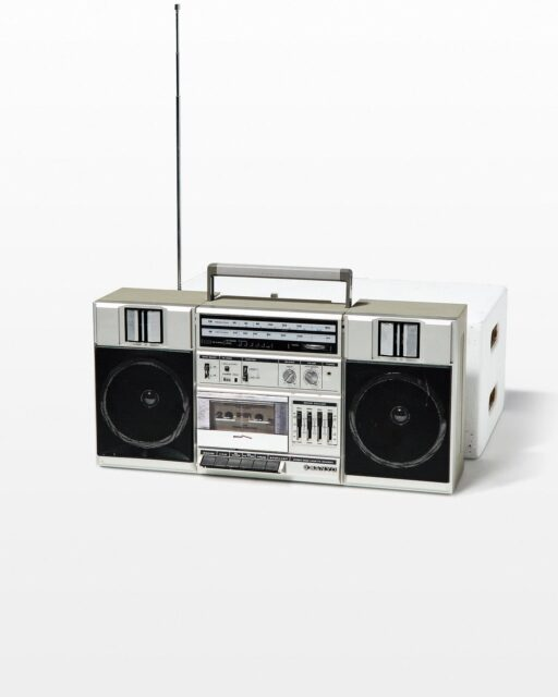 Front view of Pac Boom Box