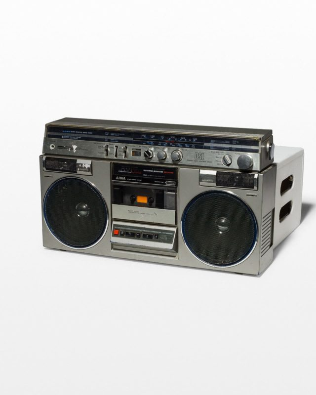 Front view of Clyde Boom Box