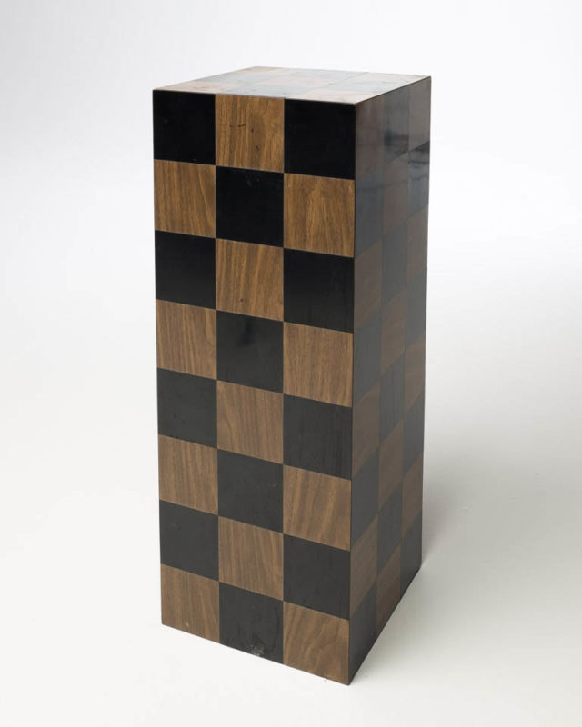 Front view of Checker Pedestal