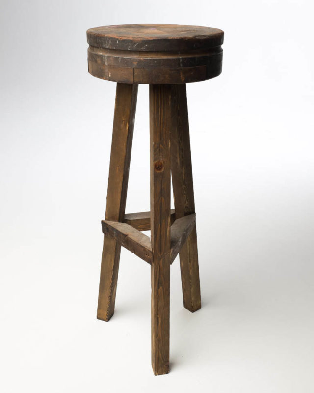 Front view of Reclaimed Wood Pedestal