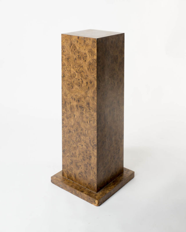 Front view of Simulated Burl Wood Pedestal