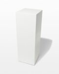 Front view thumbnail of Benny Tall White Lacquer Pedestal