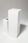 Alternate view thumbnail 1 of Benny Tall White Lacquer Pedestal