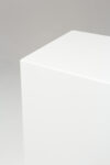 Alternate view thumbnail 2 of Benny Tall White Lacquer Pedestal