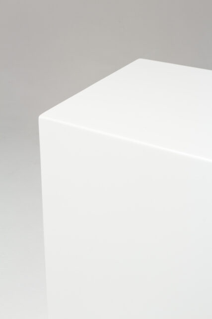 Alternate view 2 of Benny Tall White Lacquer Pedestal