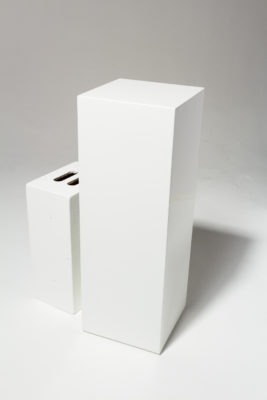 Alternate view 1 of Benny Tall White Lacquer Pedestal
