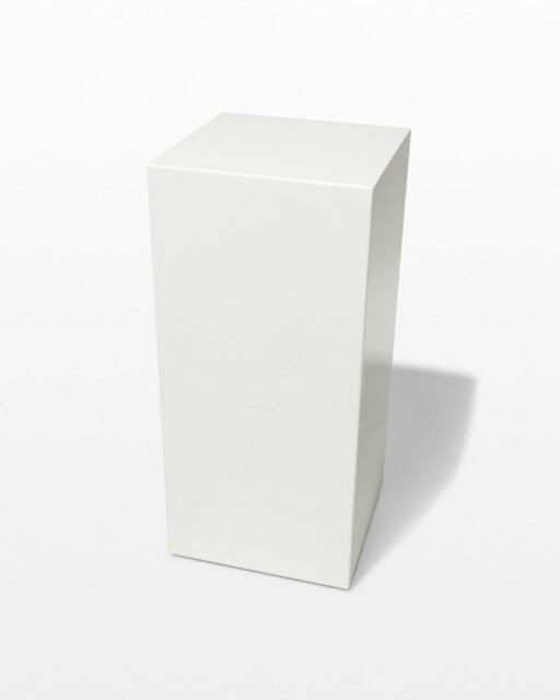 Front view of Benny Low White Lacquer Pedestal