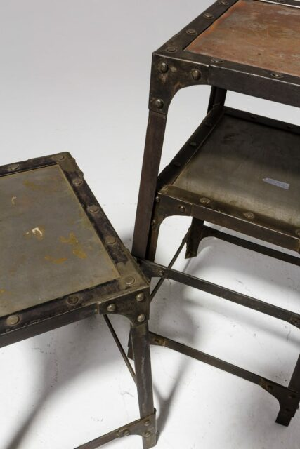 Alternate view 1 of Albert Steel Stool Pedestal Trio Set