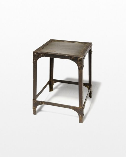 Front view of Albert Steel Stool Pedestal