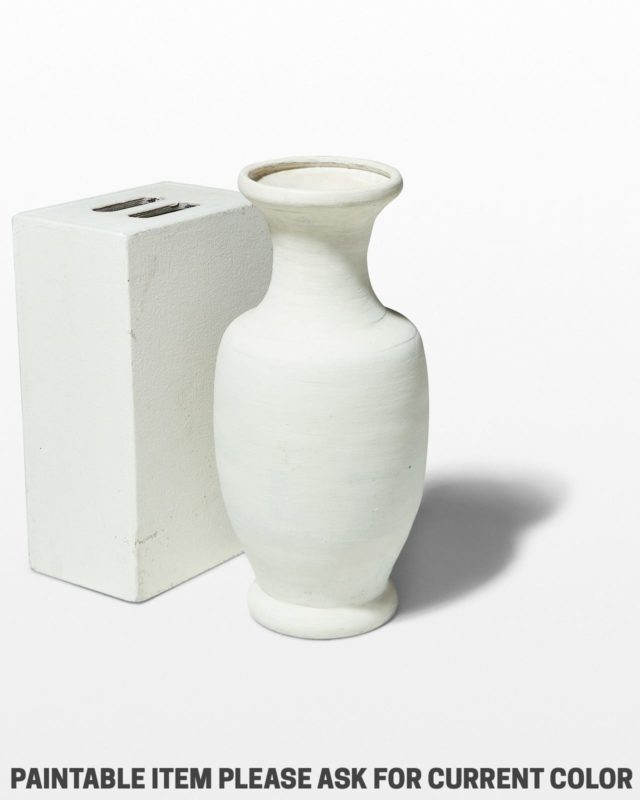 Front view of Paintable Urns