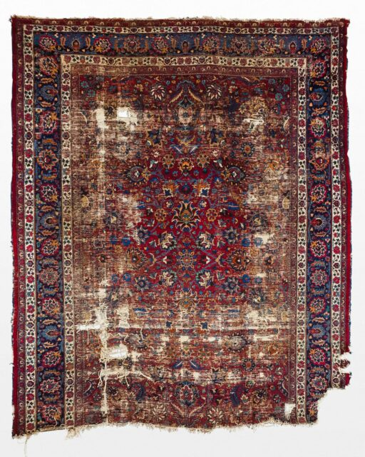 Front view of Bardia 8.75' x 11' Distressed Rug