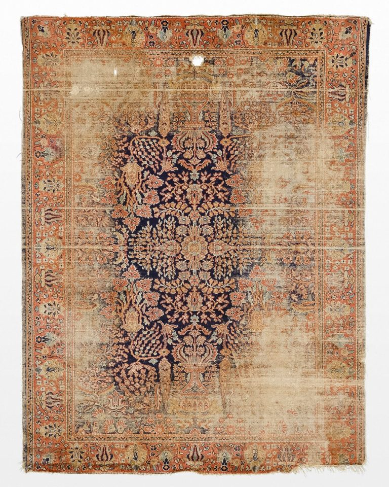 Front view of Sparta 5.5 x 7.5′ Foot Distressed Rug