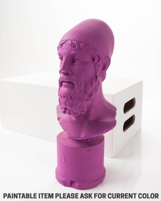 Front view of Paintable Pedestal Bust