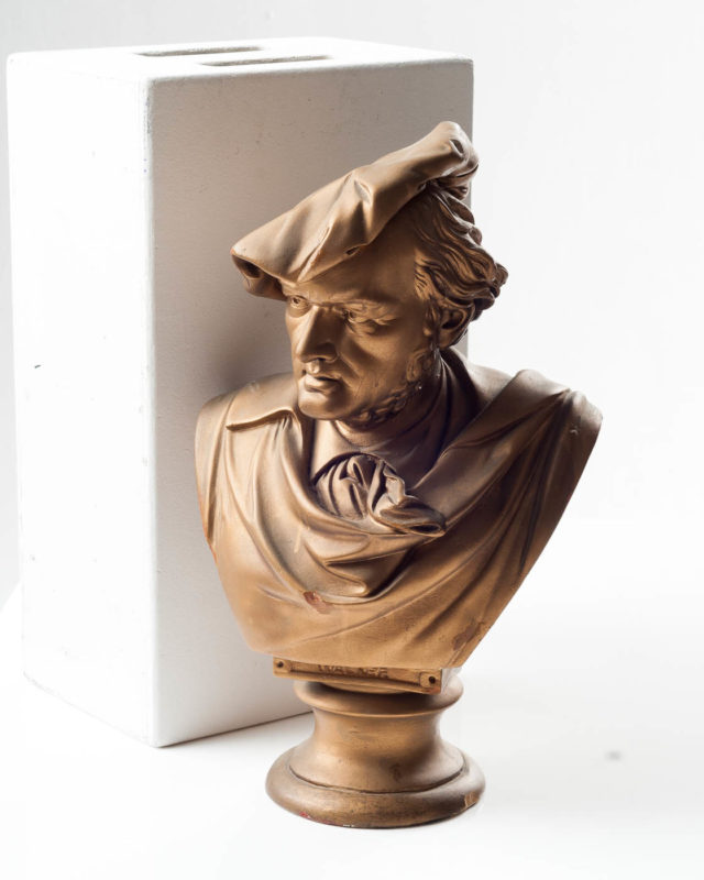 Front view of Gold Basil Bust