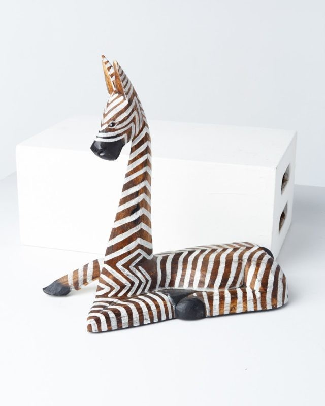 Front view of Zag Zebra Statue