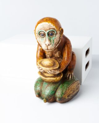 Front view of Maize Monkey Statue