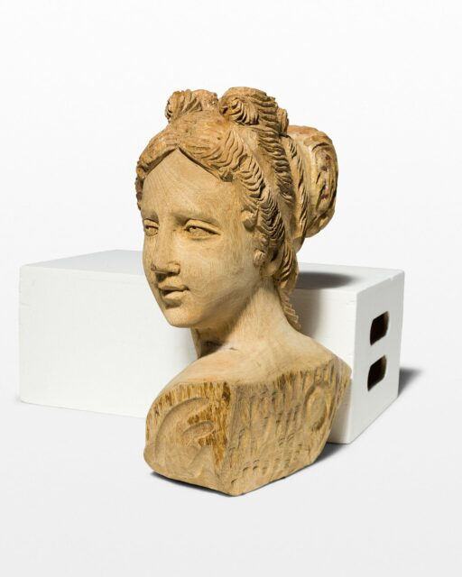 Front view of Essie Carved Female Bust