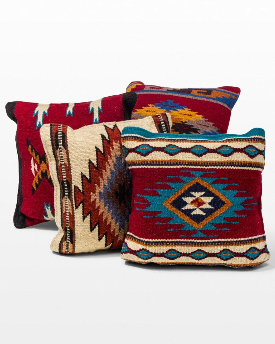 Front view of Grant Kilim Pillow Set