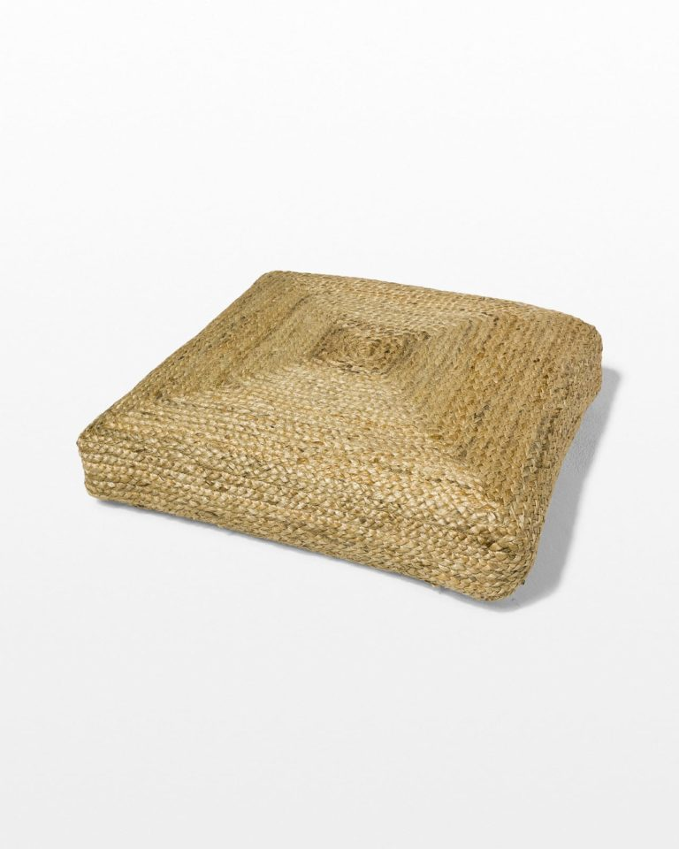 Front view of Beverly Braided Jute Floor Cushion