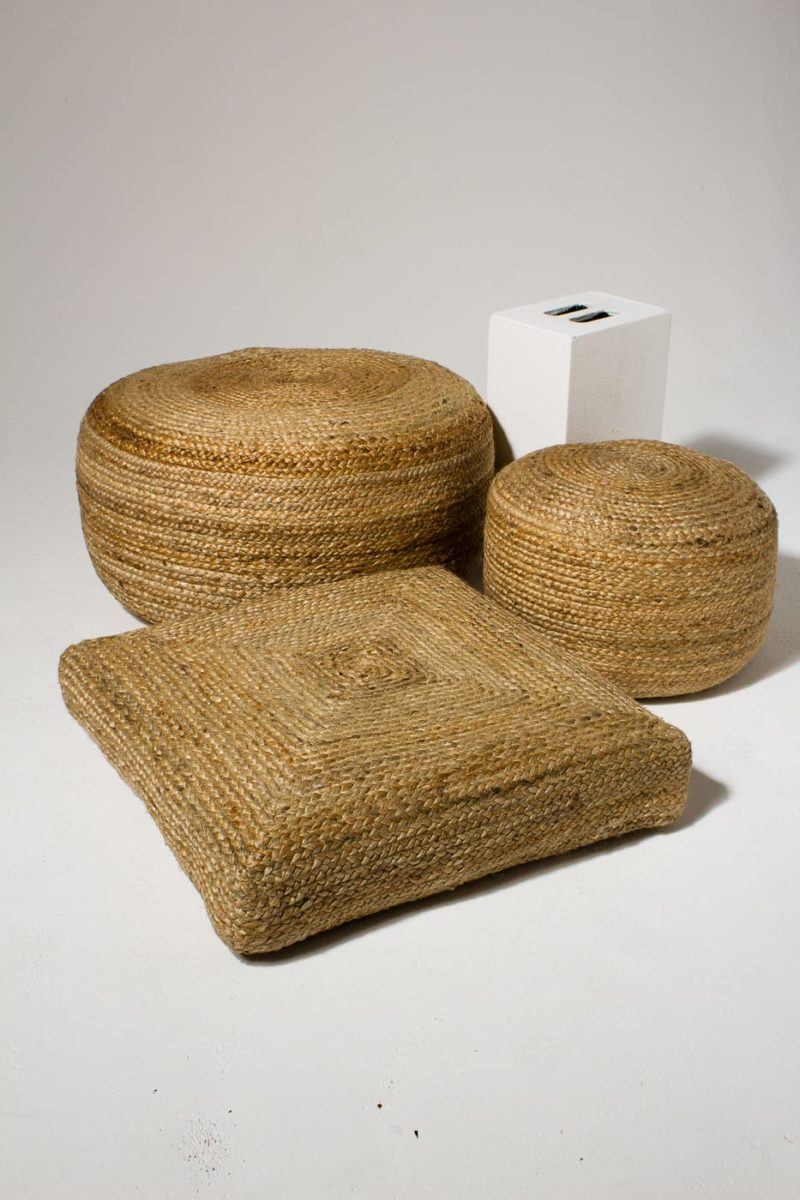 Alternate view 1 of Beverly Braided Jute Pouf and Floor Pillow Set