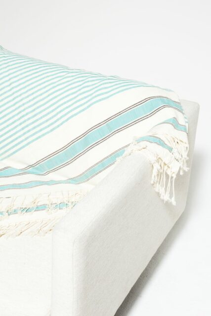 Alternate view 1 of Turquoise Line Throw